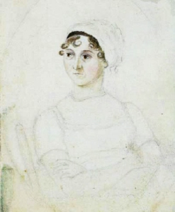 Jane Austen, c. 1810; a sketch by her sister Cassandra